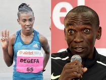 Kipchoge, Degefa win titles at Delhi half marathon