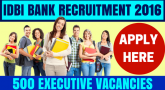 IDBI Bank Recruitment for Executives
