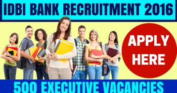 IDBI Bank Recruitment for Executives