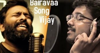 Vijay records a song in Bairavaa