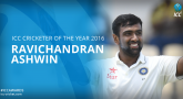 Ashwin wins Test and ICC Cricketer of the Year Awards