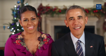 Barack Obama and first lady Michelle Send Final Christmas Message from White House