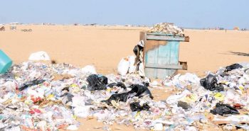 Protest at marina leaves 413 tones of garbage:-