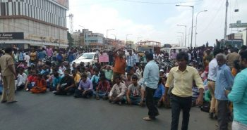Protest in various areas of chennai : (Velachery) :-