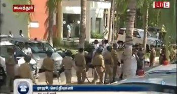 Flash NEWS : Police burst into resort to save the MLAs:-
