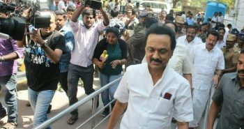 MK Stalin launched election campaign in Thiruvarur