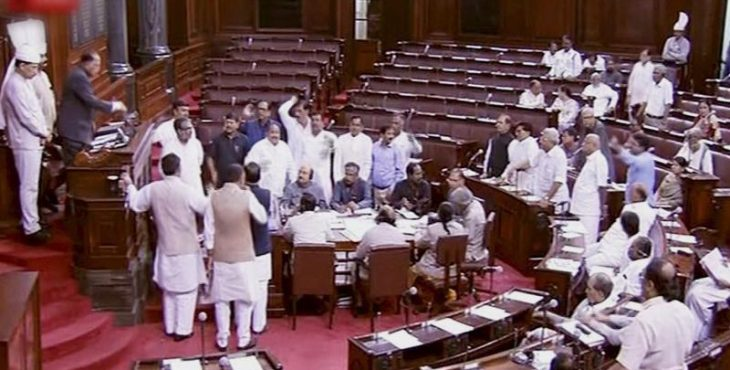 Rajya Sabha witnesses noisy scenes over lynching in name of cow protection