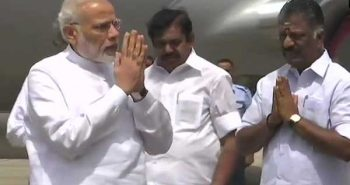 PM Modi arrive at Chennai