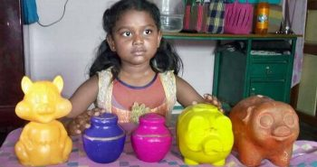 8 yr girl donated savings money for kerala relief