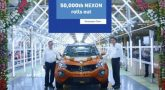 Tata Motors celebrating 50,000th Nexon roll out