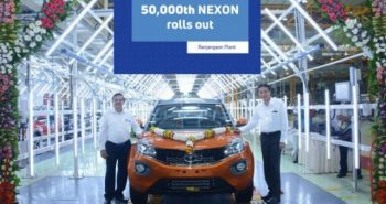 Tata Motors celebrating 50,000th Nexon roll out