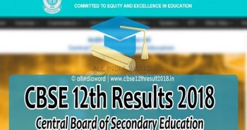 CBSE declared 12th class Results 2018