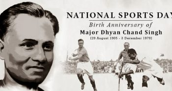National sports day August 29(Today)