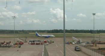 Flight lands at Kochi airport after flood