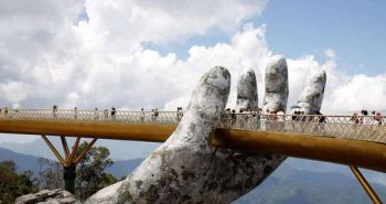 The golden bridge of Vietnam, which is the hand of God
