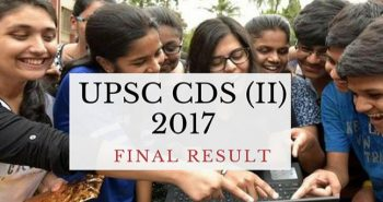 UPSC CDS 2017 exam result declared