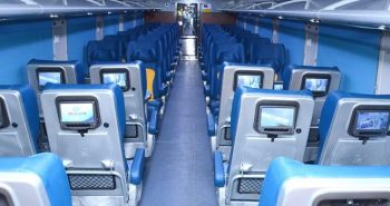 """Rail factory newly built first """"smart coach"""" with alarm"""