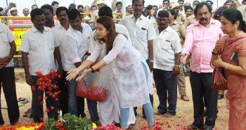 Trisha paid last respect to Kalaignar