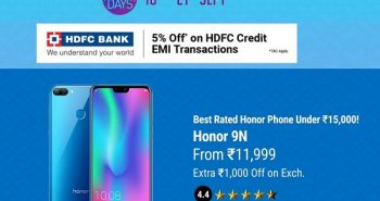 HONOR days Flipkart sale till Sep 21!