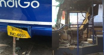 Chennai: IndiGo Bus Caught Fire