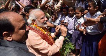Modi birthday celebration visits School