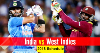 India vs West Indies Test Schedule