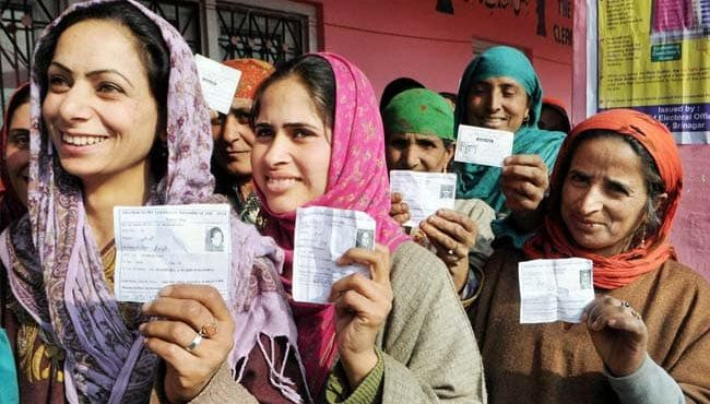 Kashmir local elections: BJP leading votes