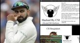 Virat Kohli's website hacked by Bangladeshi group