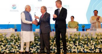 PM Modi received 'Champions of the earth Award'