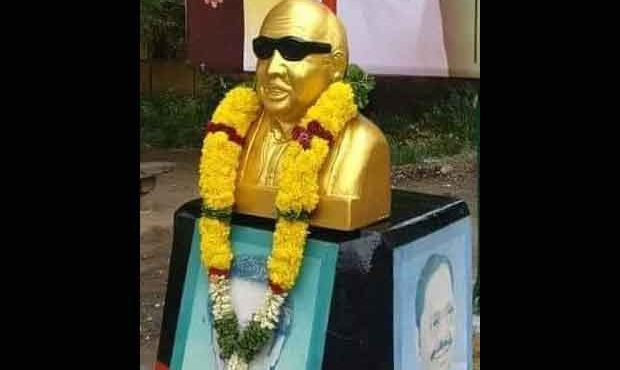 Kalaignar karunanidhi statue opening ceremony