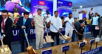 Chandrababu Naidu laid Foundation for TCL company