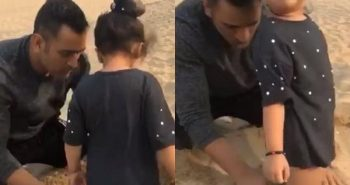 Dhoni played with ziva Viral video