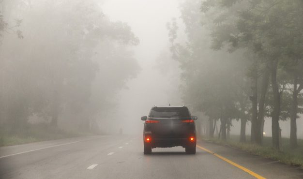 Foggy covered in Nagai districts