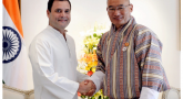 Congress president meets Bhutan PM