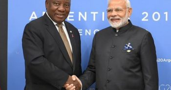 Modi invite south African president