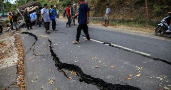 Earthquake affected in Indonesia