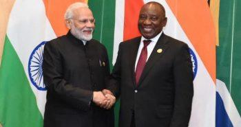 Modi welcomes SA president