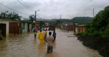 Flood affected heavily in Peru country