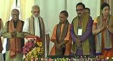 PM Modi lays foundation in Varanasi