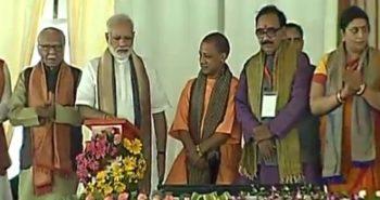 PM Modi lays foundation in Varanasi