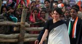 Priyanka Gandhi holding a rally in UP