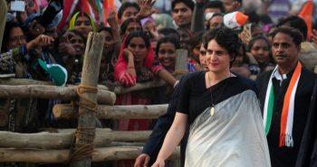 Priyanka Gandhi holding a rally in UP