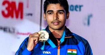 Saurabh Chaudhary wins gold in worldcup shooting