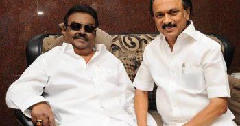 DMK leader Stalin suddenly metVijayakanth
