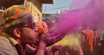 People celebrates Holi with colours of joy