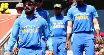 Indian cricket players wear military cap in Ranchi ODI
