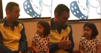 Again one viral video leaked of Dhoni's daughter