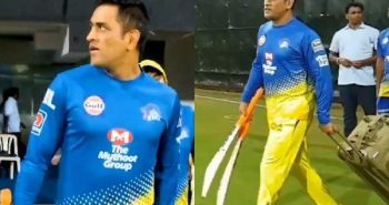 MS Dhoni played again with his fan in Chepauk stadium