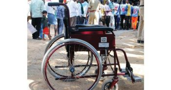 Special arrangements for disabled voters in Chennai