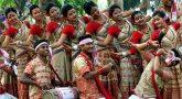 People celebrate Bihu dance in Assam